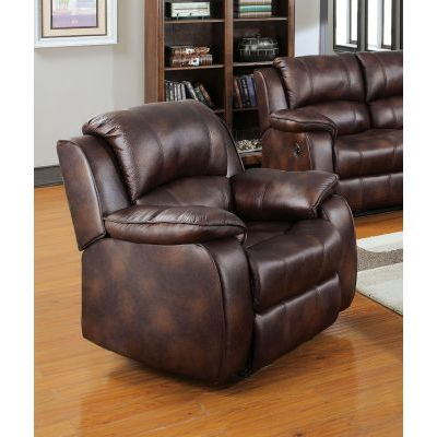 Zanthe Recliner (Motion) in Brown P-Mfb - 50512
