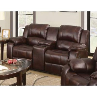 Zanthe Loveseat with Console (Motion) in Brown P-Mfb - 50513