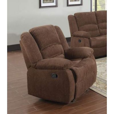 Bailey Rocker Recliner (Motion) in Dark Brown Chenille