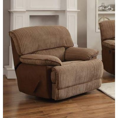 Malvern Rocker Recliner (Motion) in Light Brown UP & Fabric - 51142