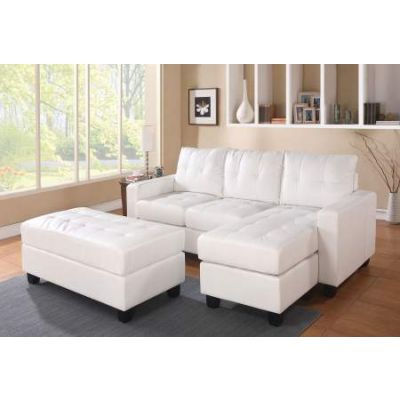 Sectional Sofa (Reversible Chaise) with Ottoman - 51210