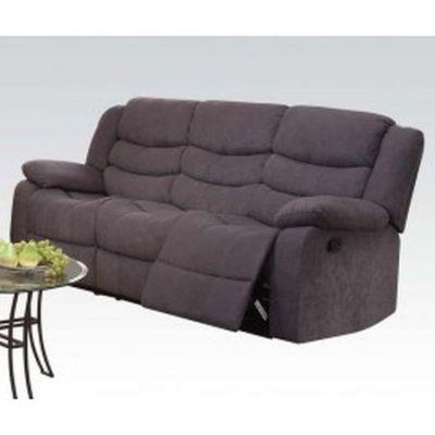 Jacinta Aaron's Sofa (Motion) in Gray Velvet - 51410