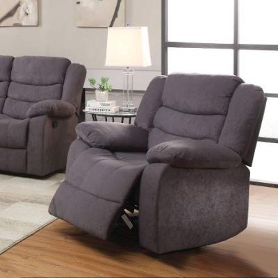 Jacinta Recliner with Gray Velvet Finish - 51412
