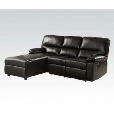 Leather Sectional in Black - 000119_Kit