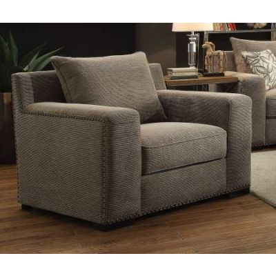Ushury Chair in Gray Chenille - 52192