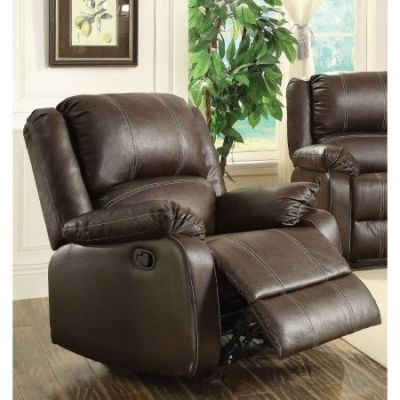 Zuriel Rocker Recliner Motion in Brown PU