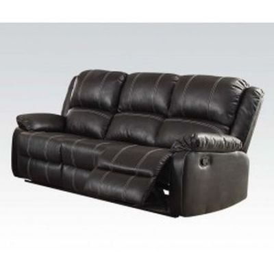 Zuriel Aaron's Sofa (Motion) in Black PU - 52285