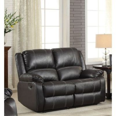 Zuriel Ashley Loveseat Motion in Black PU - 52286