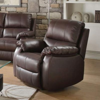 Enoch Recliner  with Dark Brown Finish - 52452