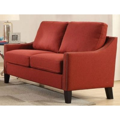 Zapata Loveseat with Red Linen Finish - 52491