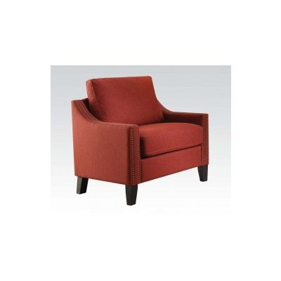 Zapata Ashley Chair with Red Linen Finish - 52492