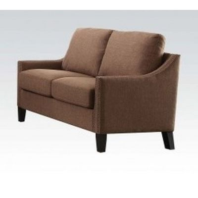 Zapata Loveseat with Brown Linen Finish - 52496