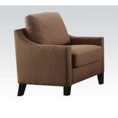 Zapata Aaron's Chair with Brown Linen Finish - 52497