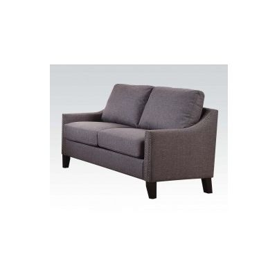 Zapata Loveseat with Gray Linen Finish - 52501