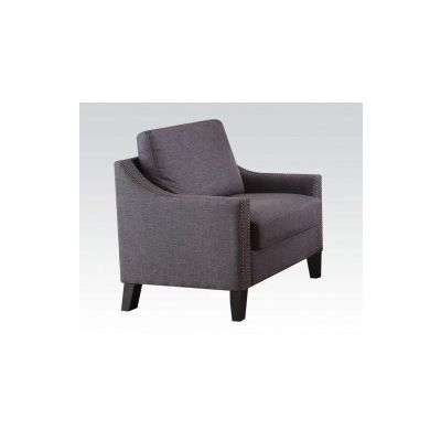 Zapata Ashley Chair with Gray Linen Finish - 52502