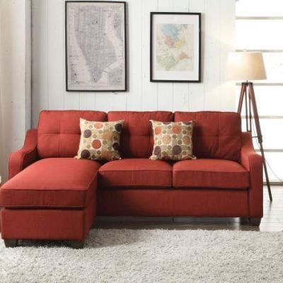 Cleavon II Sectional Sofa & 2 Pillows in Red - 53740