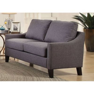 Zapata Jr Ashley Loveseat in Gray Linen - 53756