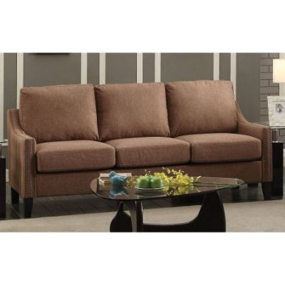 Zapata Jr Progressive Sofa in Brown Linen - 53765