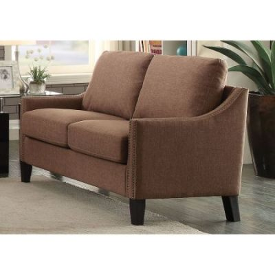 Zapata Jr Loveseat in Brown Linen - 53766