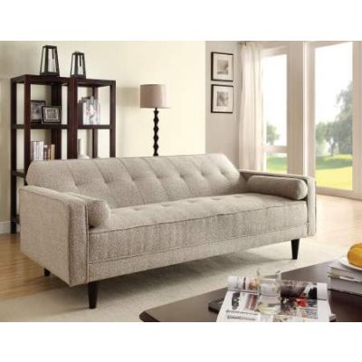 Edana Adjustable Sofa with 2 Pillows in Sand Linen - 57071