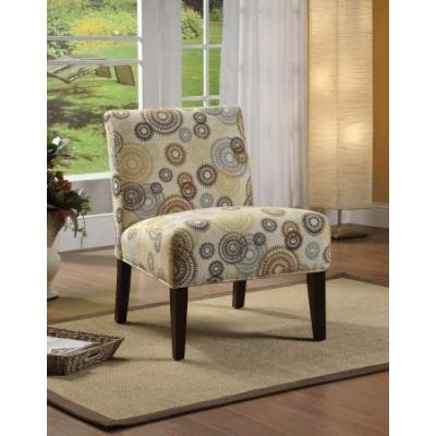 Aberly Accent Chair in Fabric & Espresso - 59069