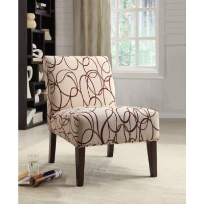 Aberly Accent Chair in Fabric & Espresso - 59070