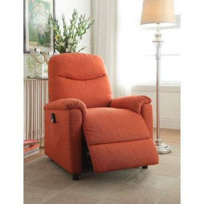Catina Recliner with Power Lift in Orange Fabric - 59346