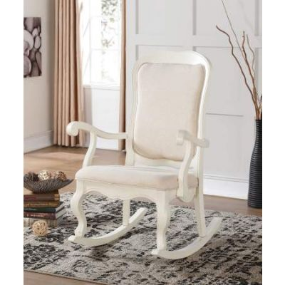 Sharan Rocking Chair in white - 59388