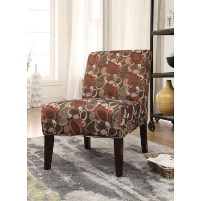 Aberly Accent Chair in Fabric & Espresso - 59395