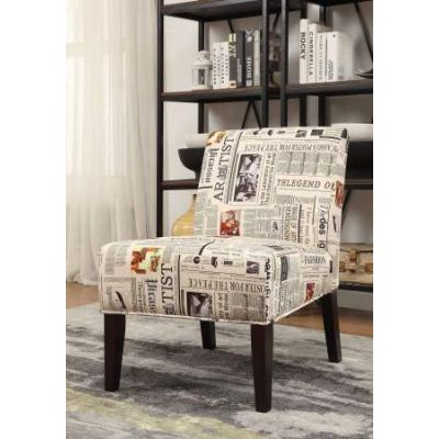 Aberly Accent Chair in Fabric & Espresso - 59397