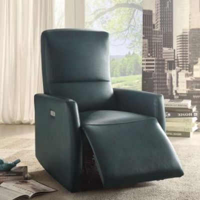 Raff Power Motion Recliner with Blue Finish - 59407