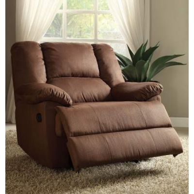 Oliver Oversized Glider Recliner (Motion) in Dark Brown - 59410