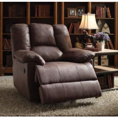 Oliver Recliner (Power Motion) in Brown Polished Mfb - 59422