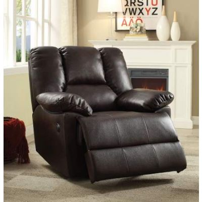 Oliver Recliner (Power Motion) in Dark Brown Leather-Aire - 59430
