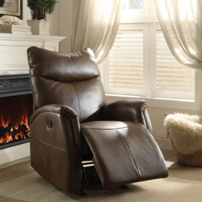 Riso Motion Rocker Recliner with Brown Finish - 59436