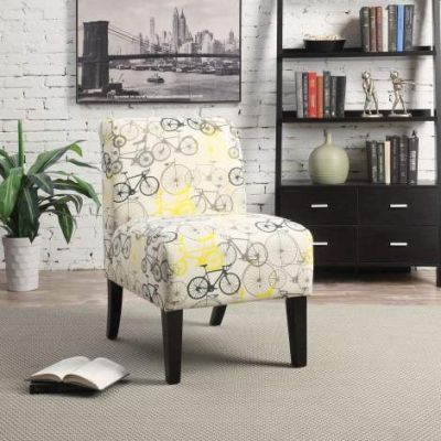 Ollano Accent Chair with Bike Pattern Fabric Finish - 59438