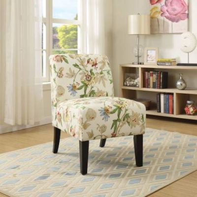 Ollano Accent Chair with Floral Fabric Finish - 59504