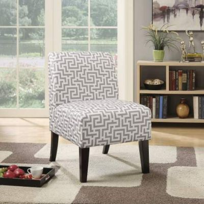Ollano Accent Chair with Grey Pattern Fabric Finish - 59506