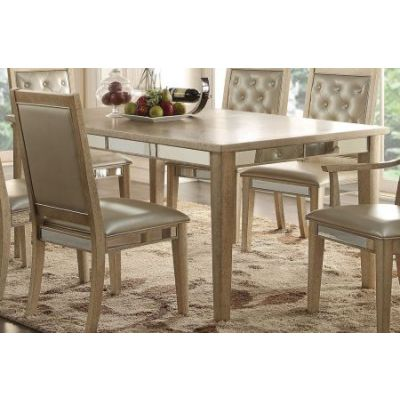 Voeville Dining Table in Antique Gold - 61005