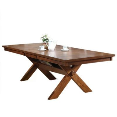 Apollo Extension Walnut Dining Table with Leaf - 000492_kit