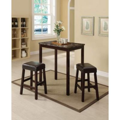 Idris 3 Piece Stoneberry Counter Height Set in Espresso - 70540