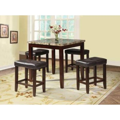 Rolle 5 Piece Stoneberry Counter Height Set in Espresso - 71090