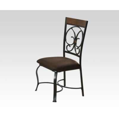 Jassi Side Chair in Dark Cherry & Antique Black - 71122