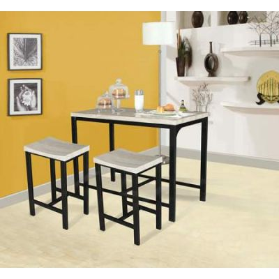 Mira 3 Piece Stoneberry Counter Height Set in Birch & Black - 71560