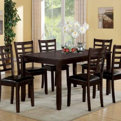 Tahlia 7 Piece Stoneberry Dining Set with Espresso Finish - 71950
