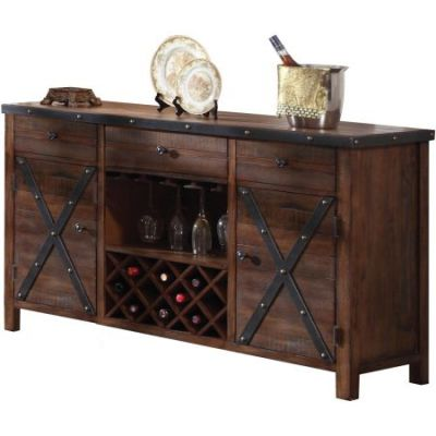 Earvin Server in Weathered Cherry - 72234