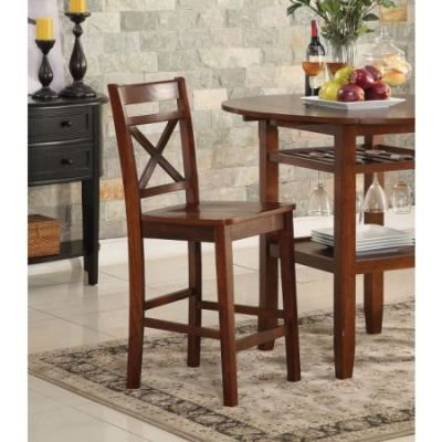 Tartys Counter Height Chair in Cherry Set of 2 - 72537