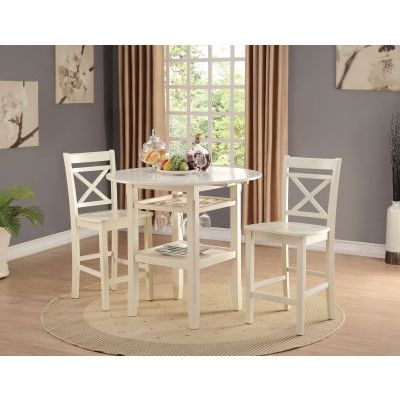 Tartys Counter Height Table in Cream - 72545