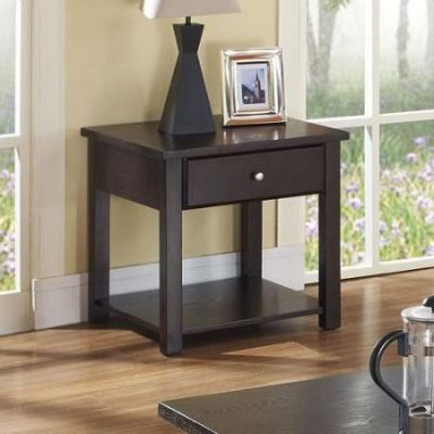 Malden End Table in Espresso - 80258