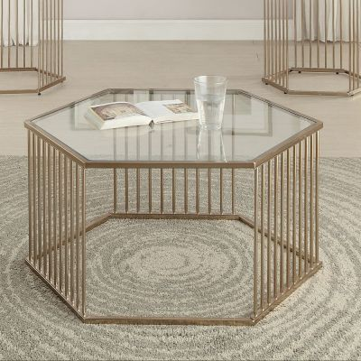 Oaklie Champagne Clear Glass Coffee Table - 000555_kit
